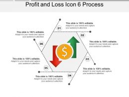 Profit And Loss Icon 6 Process PPT Slide Template