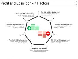 Profit And Loss Icon 7 Factors Ppt Design Templates