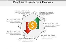Profit And Loss Icon 7 Process Ppt Slides Download