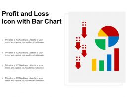 Profit And Loss Icon With Bar Chart