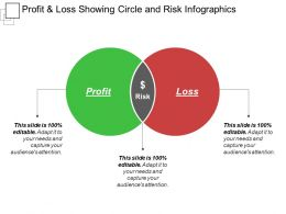 Profit And Loss Showing Circle And Risk Infographics