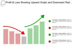 Profit And Loss Showing Upward Graph And Downward Red Graph