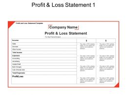 Profit And Loss Statement 1 Powerpoint Images