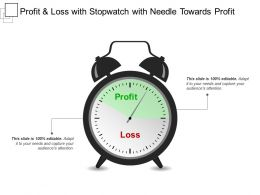 Profit And Loss With Stopwatch With Needle Towards Profit