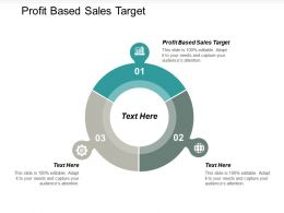 Profit Based Sales Target Ppt Powerpoint Presentation Gallery Images Cpb