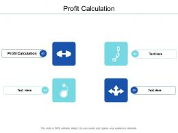 Profit Calculation Ppt Powerpoint Presentation Model Background Image Cpb