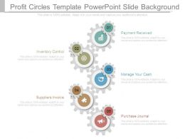 Profit Circles Template Powerpoint Slide Background