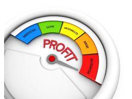 Profit Conceptual Meter Indicate Maximum Level Stock Photo
