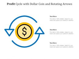 Profit Cycle With Dollar Coin And Rotating Arrows