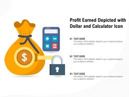 Profit Earned Depicted With Dollar And Calculator Icon