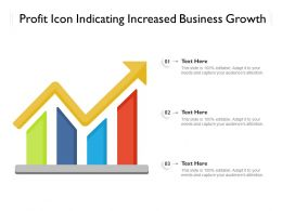 Profit Icon Indicating Increased Business Growth