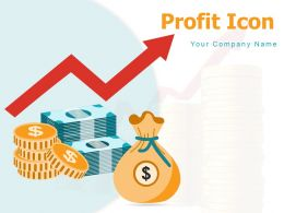 Profit Icon Innovation Bulb Icon Financial Growing Business Gear Manufacturing Currency