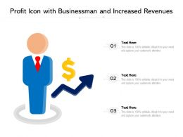 Profit Icon With Businessman And Increased Revenues