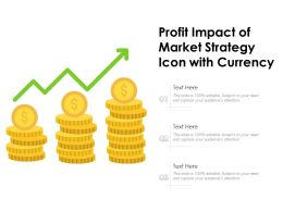 Profit Impact Of Market Strategy Icon With Currency