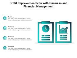 Profit Improvement Icon With Business And Financial Management