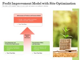 Profit Improvement Model With Site Optimization