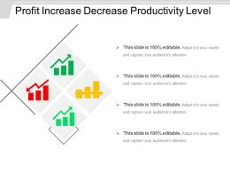 Profit Increase Decrease Productivity Level