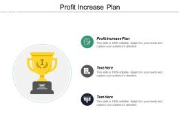Profit Increase Plan Ppt Powerpoint Presentation Inspiration Deck Cpb