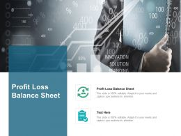Profit Loss Balance Sheet Ppt Powerpoint Presentation Infographic Template Slide Download Cpb