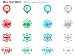 Profit Loss Global Hierarchy Media Planning Ppt Icons Graphics
