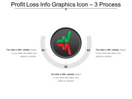 Profit Loss Info Graphics Icon 3 Process Ppt Slide