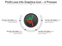 Profit Loss Info Graphics Icon 4 Process Ppt Icon