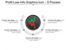 Profit Loss Info Graphics Icon 5 Process Ppt Image
