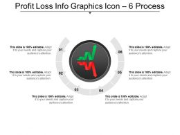 Profit Loss Info Graphics Icon 6 Process Ppt Diagram
