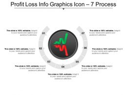 Profit Loss Info Graphics Icon 7 Process PPT Summary