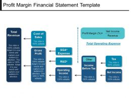 Profit Margin Financial Statement Template Ppt Images