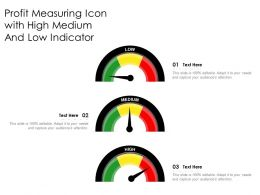 Profit Measuring Icon With High Medium And Low Indicator