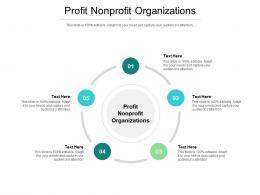 Profit Nonprofit Organizations Ppt Powerpoint Presentation Professional Icons Cpb