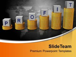 Profit On Stack Of Gold Coins Success Graph Powerpoint Templates Ppt Themes And Graphics 0213