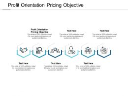 Profit Orientation Pricing Objective Ppt Powerpoint Presentation Show Designs Cpb