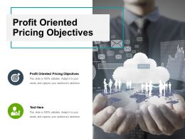 Profit Oriented Pricing Objectives Ppt Powerpoint Presentation Infographics Guide Cpb