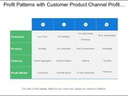 Profit Patterns With Customer Product Channel Profit Model