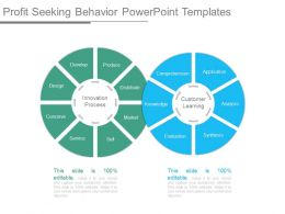 Profit Seeking Behavior Powerpoint Templates