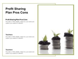 Profit Sharing Plan Pros Cons Ppt Powerpoint Presentation Gallery Infographics Cpb