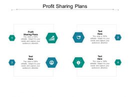 Profit Sharing Plans Ppt Powerpoint Presentation Model Background Cpb