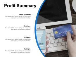 Profit Summary Ppt Powerpoint Presentation Icon Samples Cpb