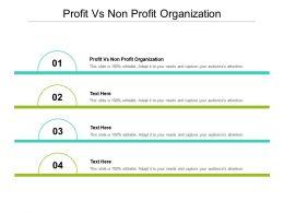 Profit Vs Non Profit Organization Ppt Powerpoint Presentation Inspiration Master Slide Cpb