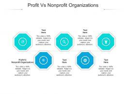 Profit Vs Nonprofit Organizations Ppt Powerpoint Presentation Inspiration Graphics Example Cpb