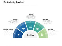 Profitability Analysis Ppt Powerpoint Presentation Icon Show Cpb