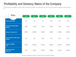 Profitability And Solvency Ratios Of The Company Equity Ratio Ppt Grid