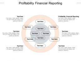 Profitability Financial Reporting Ppt Powerpoint Presentation Background Cpb