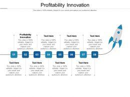 Profitability Innovation Ppt Powerpoint Presentation Summary Good Cpb