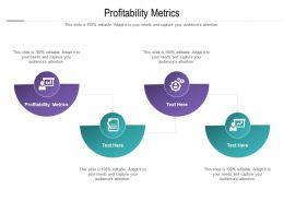 Profitability Metrics Ppt Powerpoint Presentation Model Inspiration Cpb
