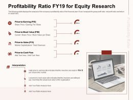 Profitability Ratio Fy19 For Equity Research Book Value Ppt Powerpoint Presentation Infographics Structure