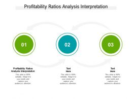 Profitability Ratios Analysis Interpretation Ppt Powerpoint Presentation Professional Styles Cpb