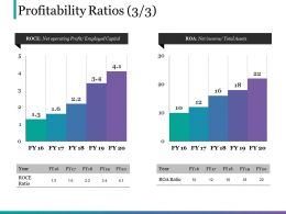 Profitability Ratios Powerpoint Show